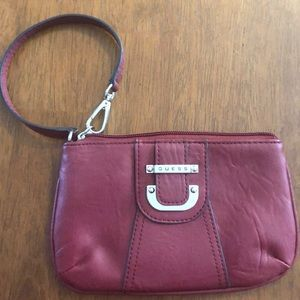 Guess red/burgundy wristlet